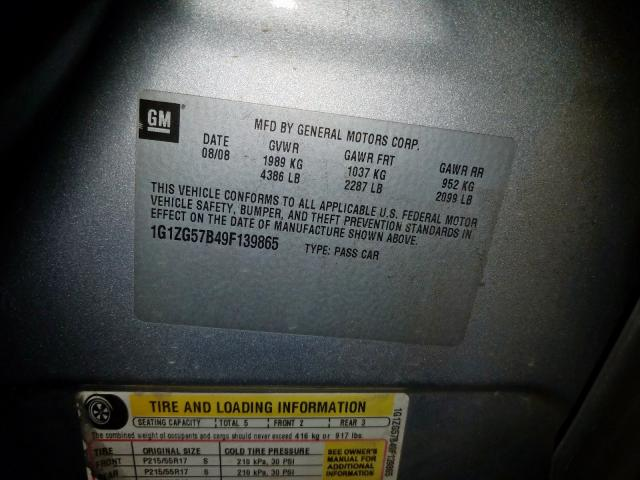 Car Complaints  2009 Malibu Owners Manual