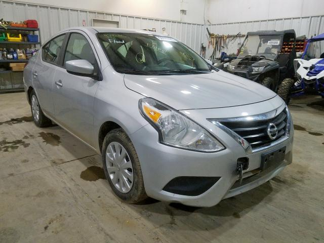 Salvage cars for sale from Copart Central Square, NY: 2019 Nissan Versa S