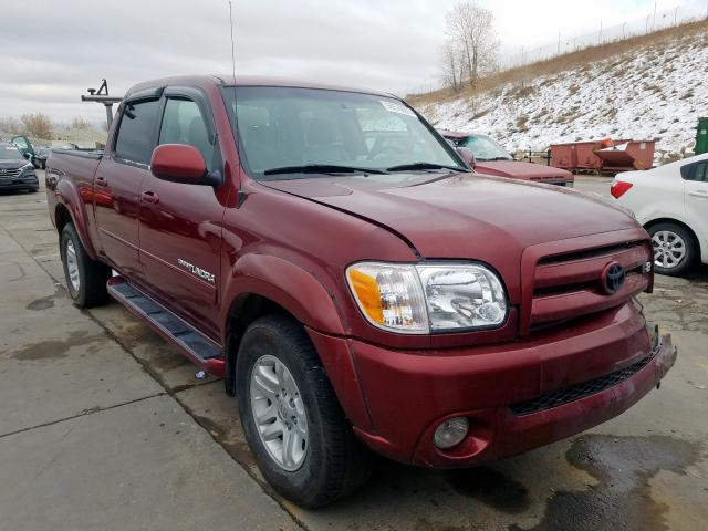 Toyota Tundra DOU salvage cars for sale: 2005 Toyota Tundra DOU