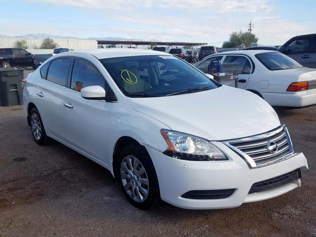 Salvage cars for sale from Copart Tucson, AZ: 2015 Nissan Sentra S