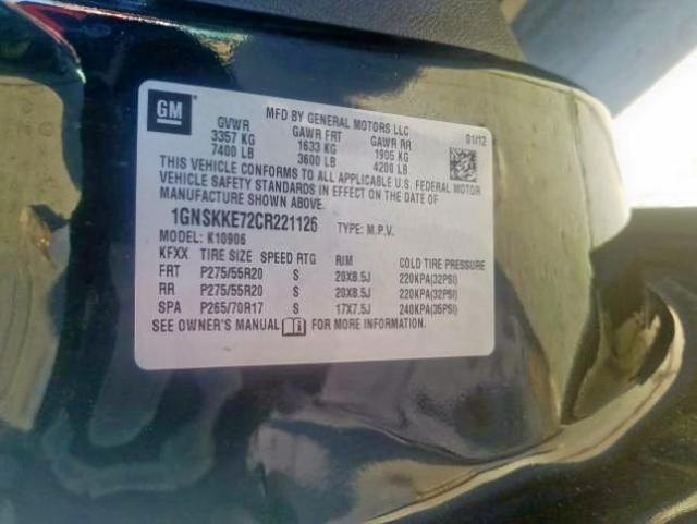 2012 Chevrolet Suburban K 5.3L