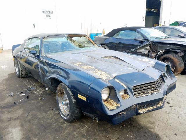 Chevrolet Camaro salvage cars for sale: 1978 Chevrolet Camaro