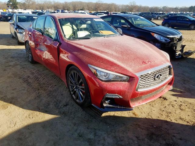 Infiniti salvage cars for sale: 2019 Infiniti Q50 RED SP