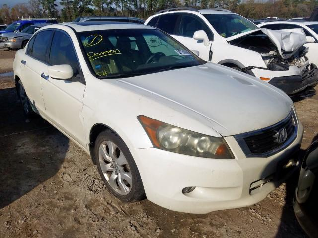 Salvage cars for sale from Copart Houston, TX: 2008 Honda Accord EXL