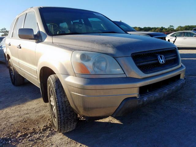 Salvage cars for sale from Copart Houston, TX: 2005 Honda Pilot EXL