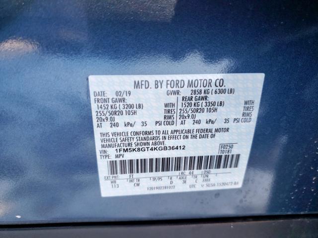2019 Ford  | Vin: 1FM5K8GT4KGB36412