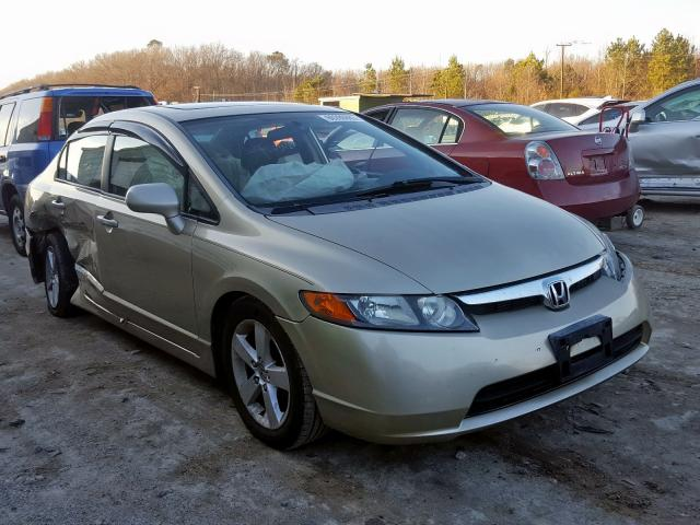 Salvage cars for sale from Copart Hampton, VA: 2008 Honda Civic