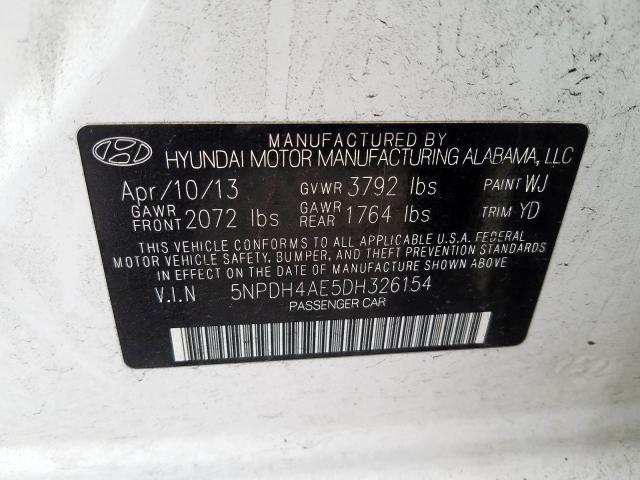 2013 Hyundai ELANTRA | Vin: 5NPDH4AE5DH326154