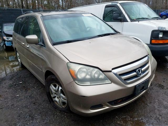 Salvage cars for sale from Copart Waldorf, MD: 2006 Honda Odyssey EX