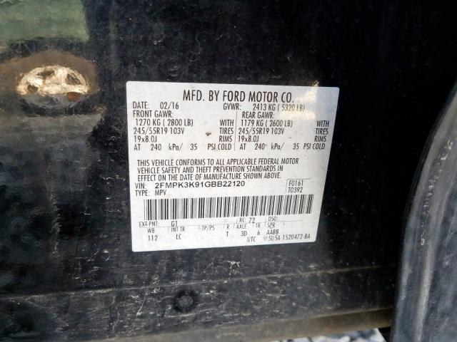 2016 Ford    Vin: 2FMPK3K91GBB22120