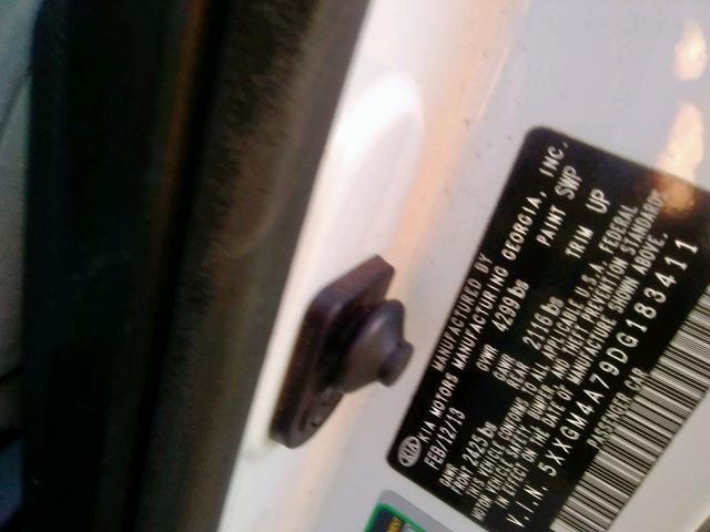 2013 Kia    Vin: 5XXGM4A79DG183411