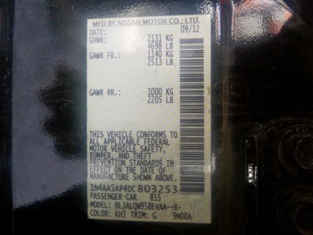 2013 Nissan  | Vin: 1N4AA5AP4DC803253