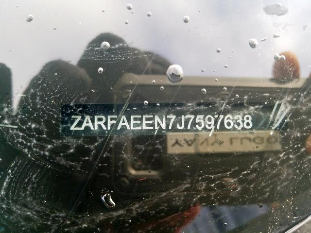 2018 ALFA ROMEO GIULIA | Vin: ZARFAEEN7J7597638