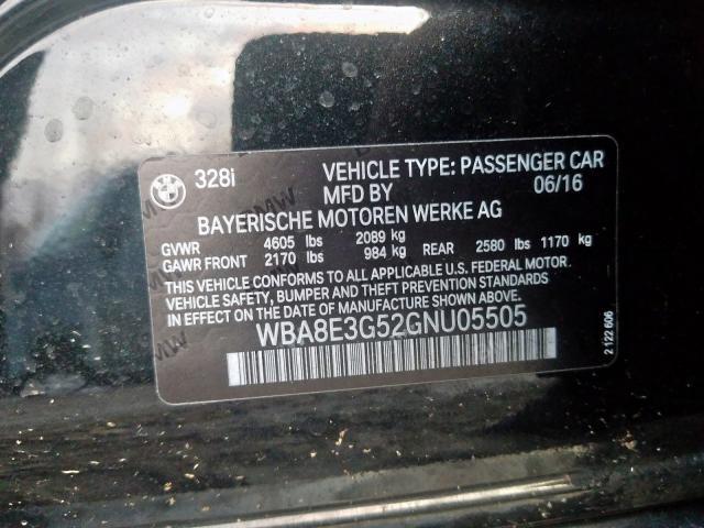 2016 BMW    Vin: WBA8E3G52GNU05505
