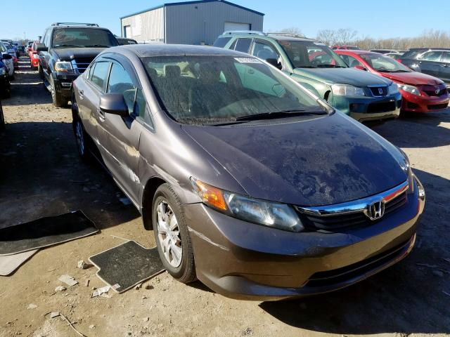 Honda Civic LX salvage cars for sale: 2012 Honda Civic LX