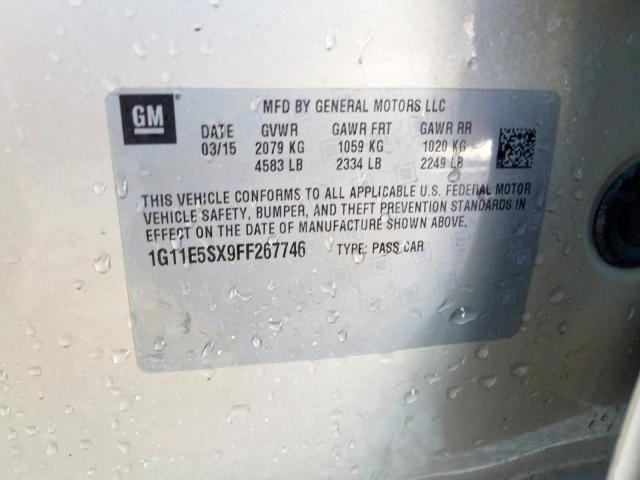 2015 Chevrolet    Vin: 1G11E5SX9FF267746