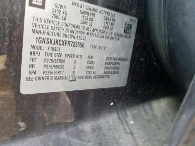 2015 Chevrolet SUBURBAN | Vin: 1GNSKJKCXFR723656