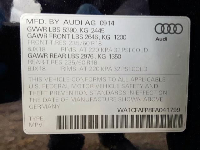 Купить Audi Q5 2015 г. из США с доставкой и растаможкой под ключ.