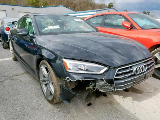 Salvage cars for sale from Copart Hurricane, WV: 2018 Audi A5 Premium