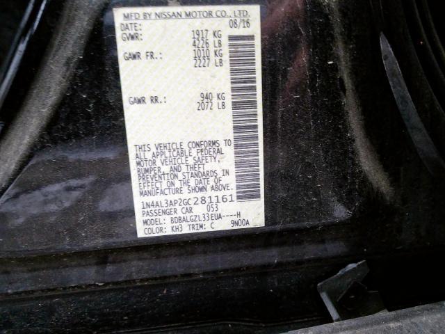 2016 Nissan  | Vin: 1N4AL3AP2GC281161