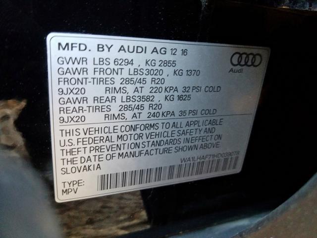 2017 Audi Q7 | Vin: WA1LHAF71HD039078