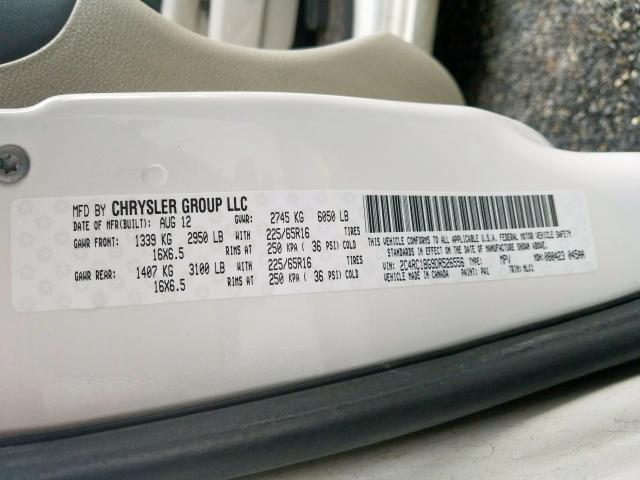2013 Chrysler TOWN   Vin: 2C4RC1BG9DR526556