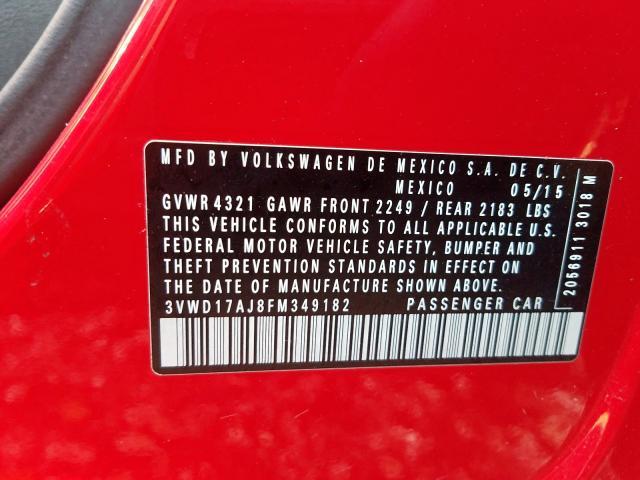 2015 Volkswagen    Vin: 3VWD17AJ8FM349182
