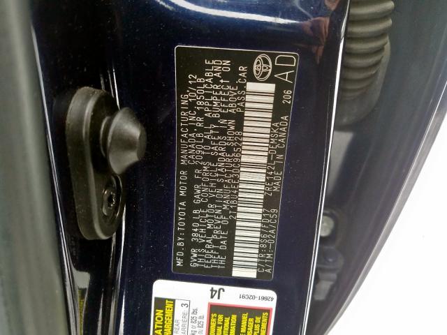 2013 Toyota  | Vin: 2T1BU4EE3DC965228