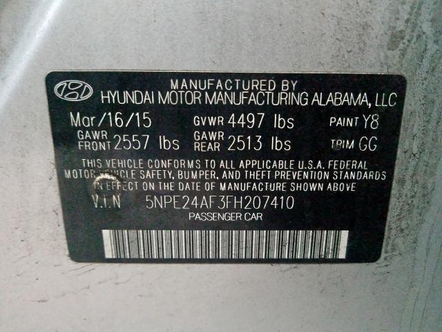 2015 Hyundai SONATA   Vin: 5NPE24AF3FH207410