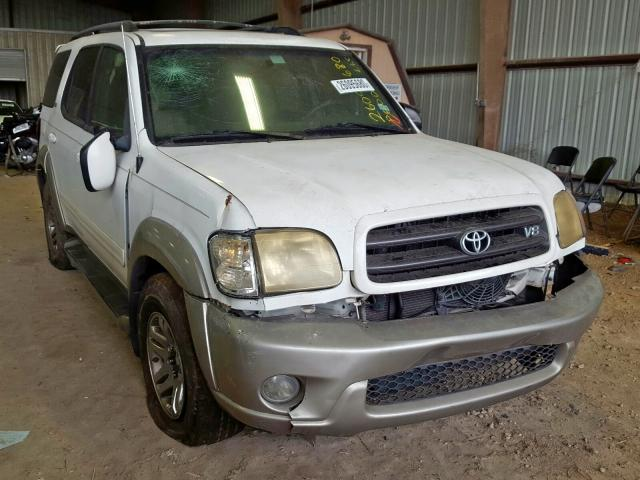 Salvage cars for sale at Houston, TX auction: 2004 Toyota Sequoia SR