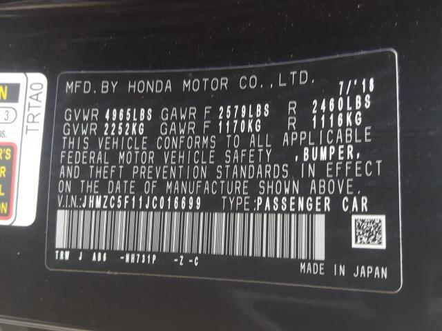 2018 Honda  | Vin: JHMZC5F11JC016699