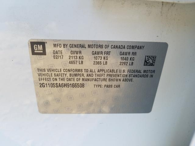 2017 Chevrolet IMPALA | Vin: 2G1105SA6H9166508
