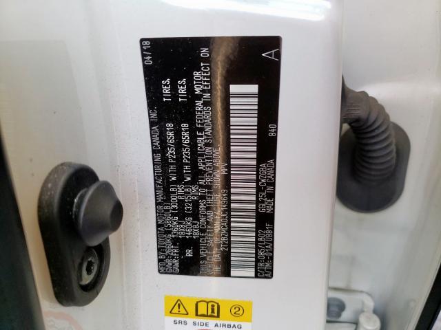 2018 Lexus RX   Vin: 2T2BZMCA0JC149649