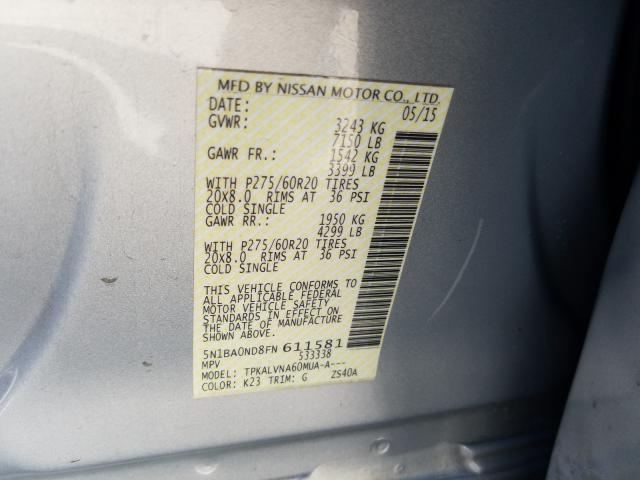 2015 Nissan  | Vin: 5N1BA0ND8FN611581