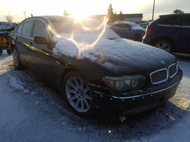 BMW 745 LI salvage cars for sale: 2004 BMW 745 LI