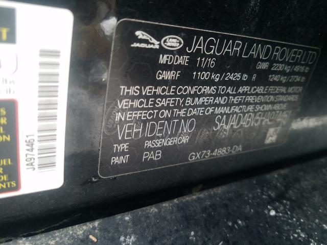 2017 Jaguar    Vin: SAJAD4BV5HA974461