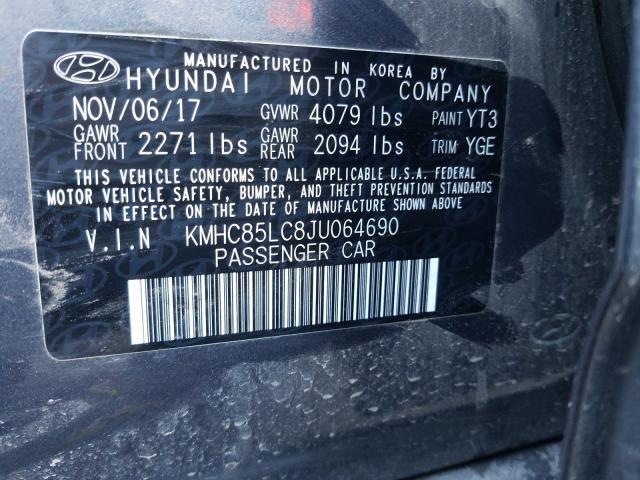 2018 Hyundai IONIQ | Vin: KMHC85LC8JU064690