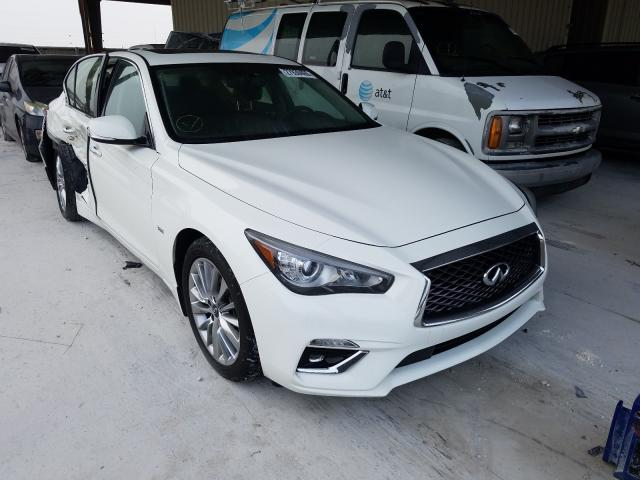 Salvage cars for sale from Copart Homestead, FL: 2019 Infiniti Q50 Luxe