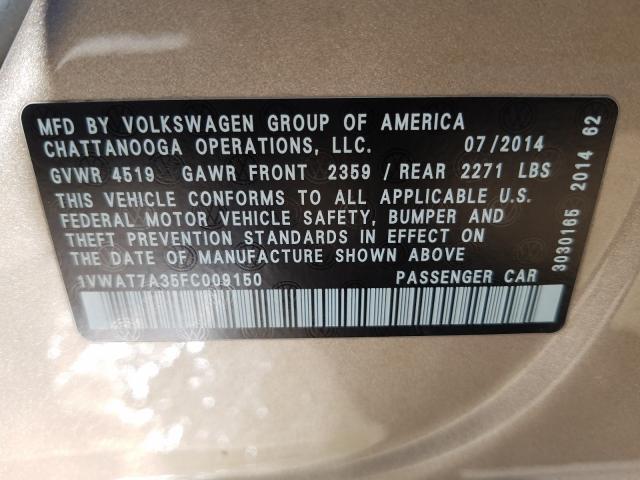 2015 Volkswagen  | Vin: 1VWAT7A35FC009150