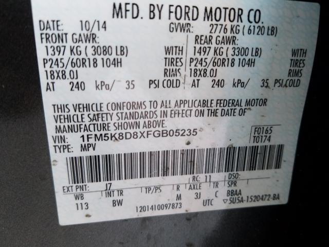 2015 Ford  | Vin: 1FM5K8D8XFGB05235