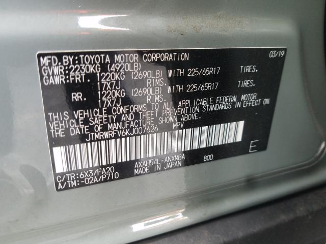 2019 Toyota  | Vin: JTMRWRFV6KJ007626