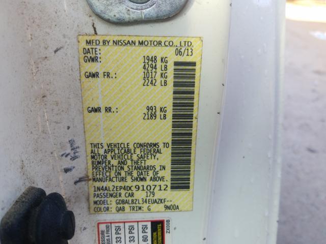 2013 Nissan  | Vin: 1N4AL2EP4DC910712