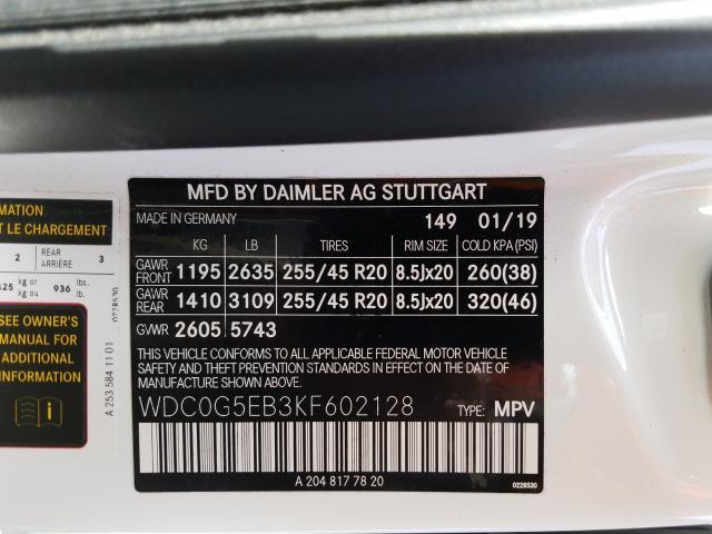 2019 Mercedes-Benz  | Vin: WDC0G5EB3KF602128
