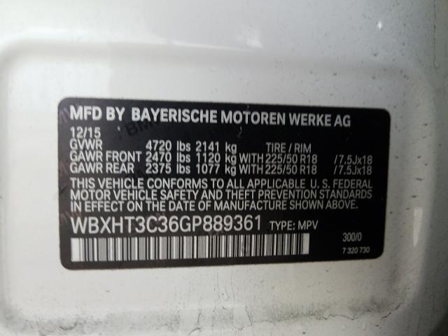 2016 BMW X1   Vin: WBXHT3C36GP889361