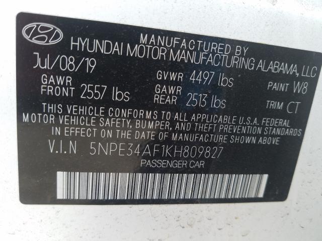 2019 Hyundai Sonata Lim 2.4L