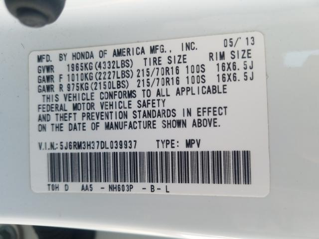 2013 Honda Cr-V Lx 2.4L
