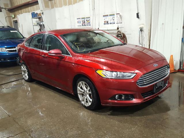 Ford salvage cars for sale: 2015 Ford Fusion Titanium