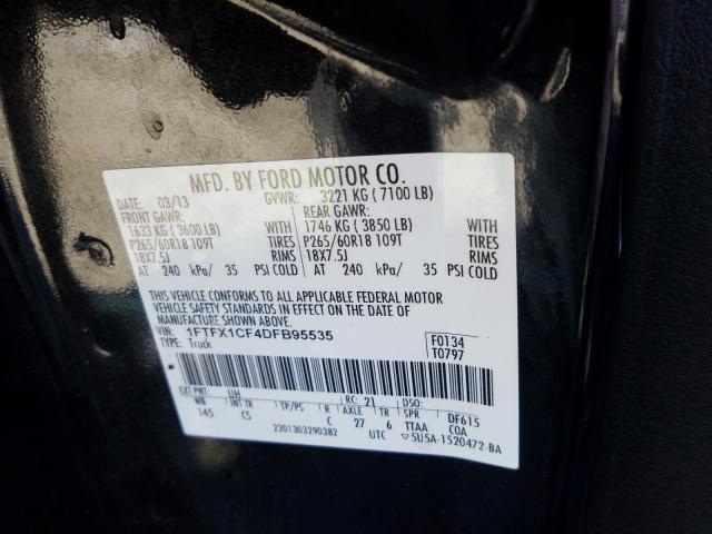 2013 Ford    Vin: 1FTFX1CF4DFB95535