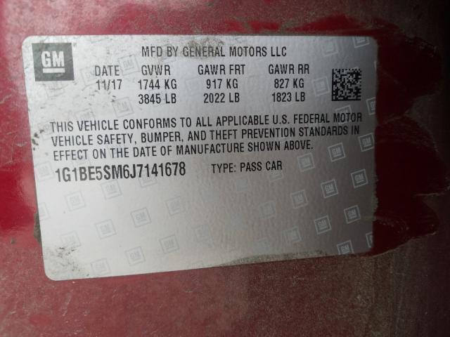 2018 Chevrolet  | Vin: 1G1BE5SM6J7141678