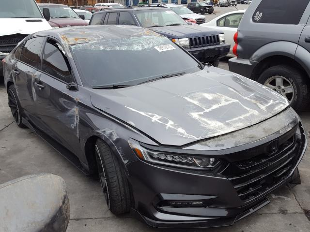Honda Accord Sport salvage cars for sale: 2018 Honda Accord Sport